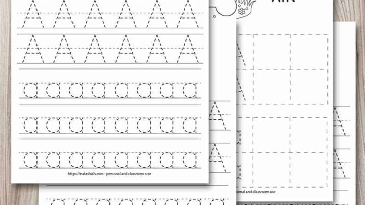 Free Printable Letter A Tracing Worksheets - The Artisan Life