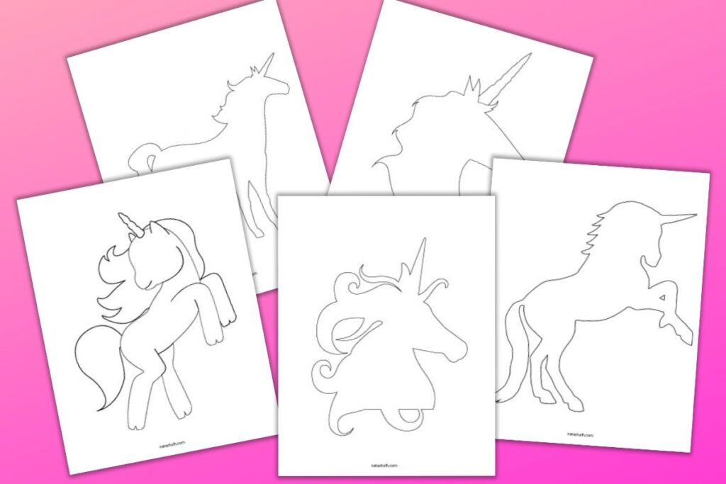 5 Free Printable Unicorn Templates For Cute Unicorn Crafts The Artisan Life