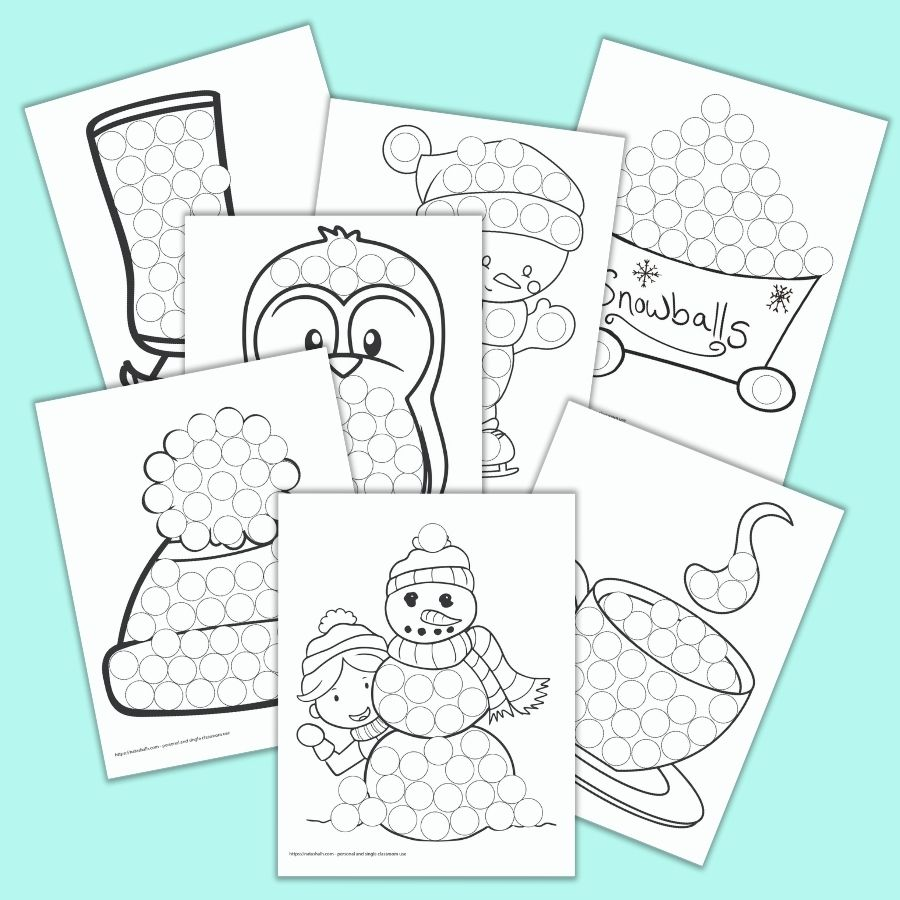 Free Printable Winter Do A Dot Marker Pages The Artisan Life