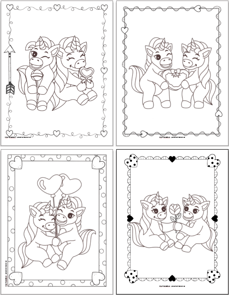 23 Super Cute Free Printable Valentine Unicorn Coloring Pages The Artisan Life